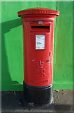 SP3378 : Elizabeth II postbox on Station Road, Coventry by JThomas