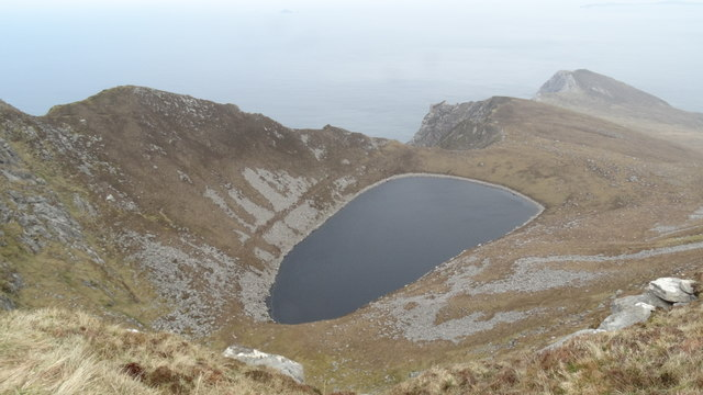 Bunnafreva Lough West on Croaghaun, Achill Island