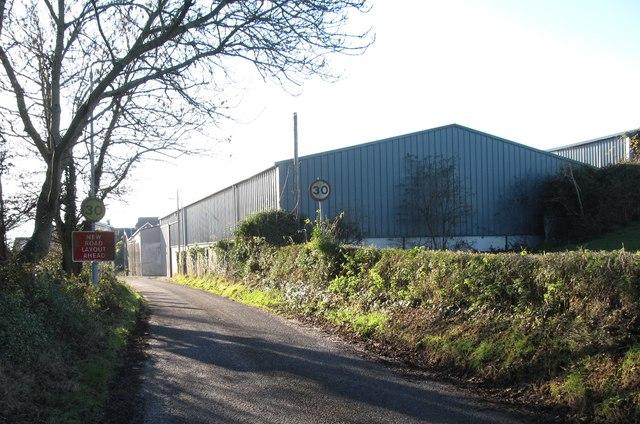 Buildings at the Moygannon Garden Centre