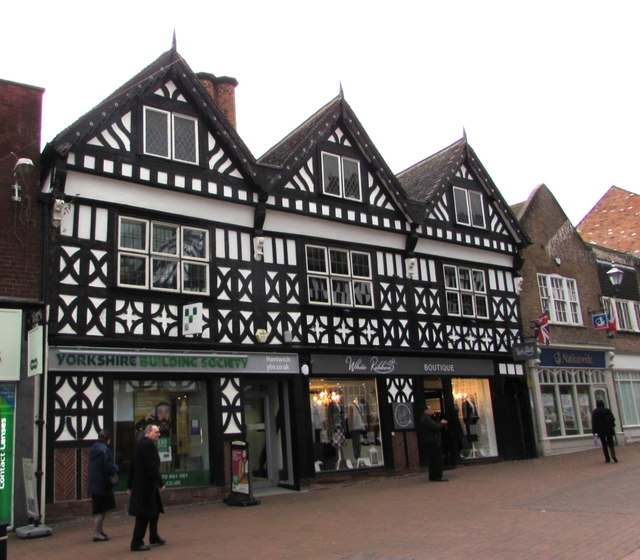 Yorkshire Building Society and White Ribbon Boutique, Nantwich