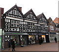 SJ6552 : Yorkshire Building Society and White Ribbon Boutique, Nantwich by Jaggery