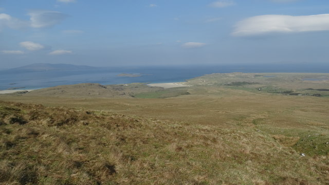 On the ascent of Mweelrea with view towards Silver Strand