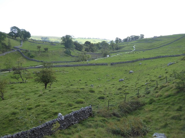 The valley of the Malham Beck