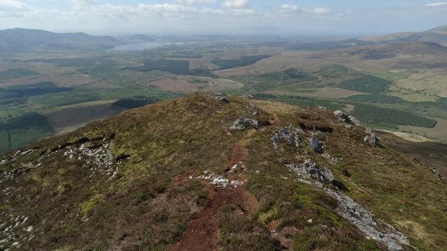 The SW ridge path on Nephin