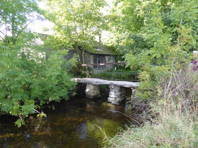 Stone footbridge in Malham