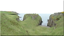 C9844 : On Causeway Coast Path - Ruins of Dunseverick Castle by Colin Park