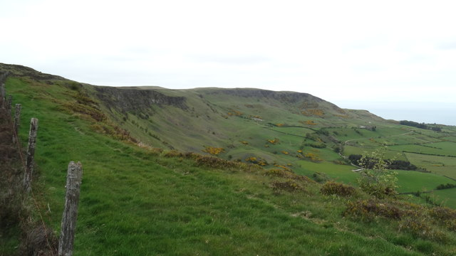 On the Antrim Hills Way - Overlooking Sallagh Braes