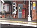 TM1279 : Railway Station Victorian Postbox by Adrian Cable