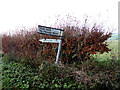 TM2075 : Signpost on Chickering Road by Adrian Cable