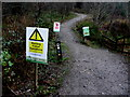 H4881 : Warning notices, Gortin Glens Forest Park by Kenneth  Allen