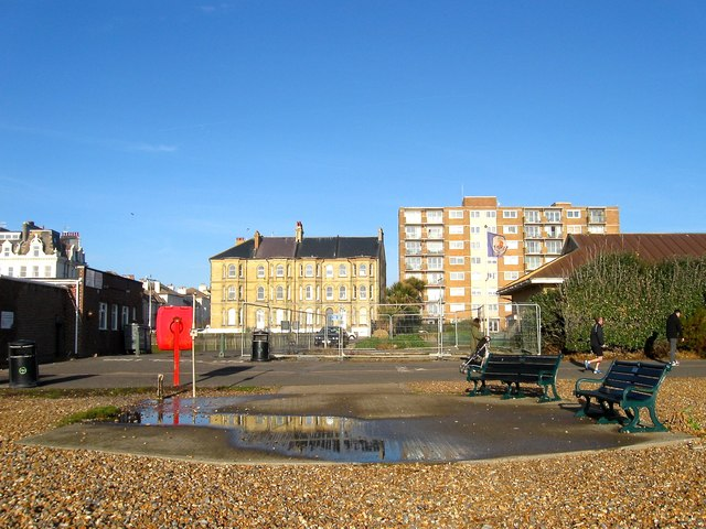 Seats and Shower, Sackville Beach, Hove