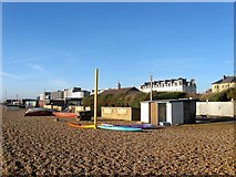 TQ2804 : Boat Area, Sackville Beach, Hove by Simon Carey
