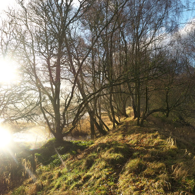Footpath along the side of the River Beauly