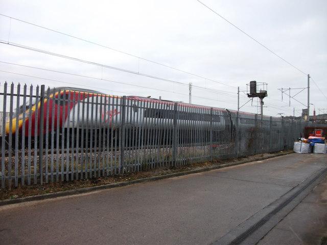 Virgin Trains Pendolino passing through Penrith
