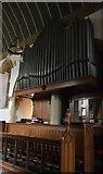 TQ5246 : Church of St Luke - organ by N Chadwick