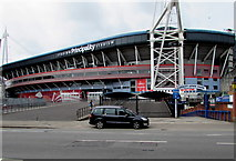 ST1876 : East side of the Principality Stadium, Cardiff by Jaggery