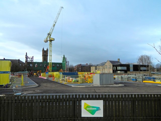 Construction on site of Burgh Hall