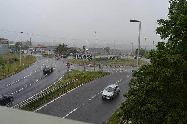 Saltash Roundabout, A38