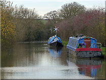 SP7155 : Narrowboats moored along the Grand Union Canal by Mat Fascione