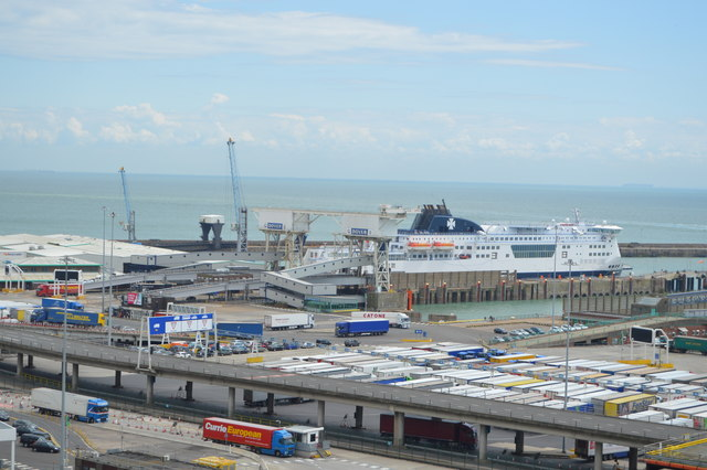 Ferry Docked at Dover