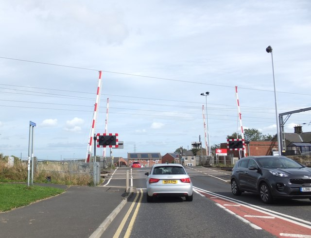 Level Crossing at Widdrington Station, Northumberland