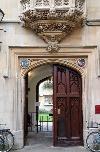 The entrance to Pembroke College in Oxford