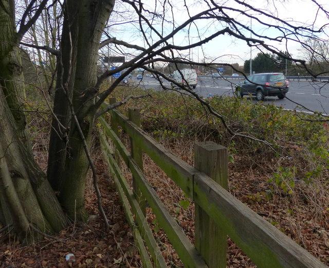 Fence alongside the M1 motorway