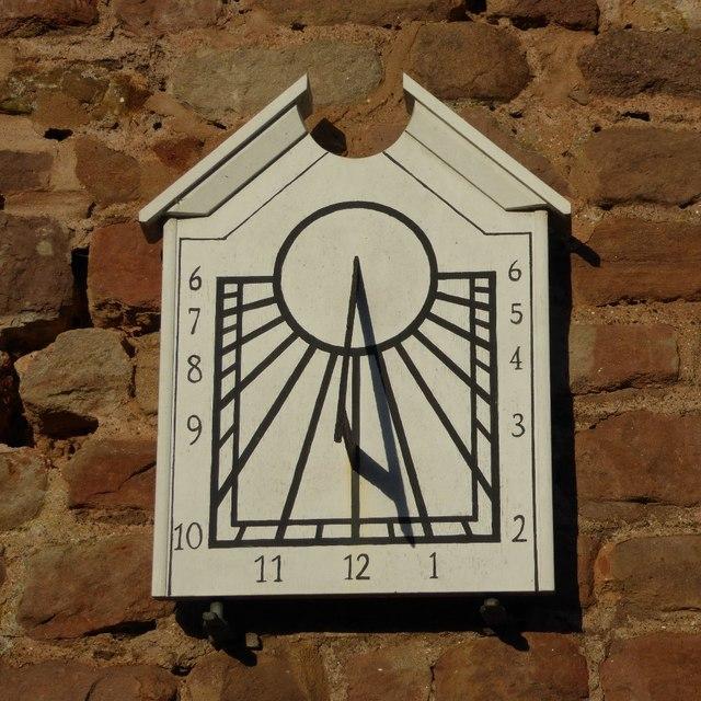 Restored sundial