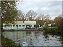TL3706 : River Lea at Broxbourne by Peter S