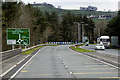 SO0627 : A40 Approaching Brynich Roundabout by David Dixon