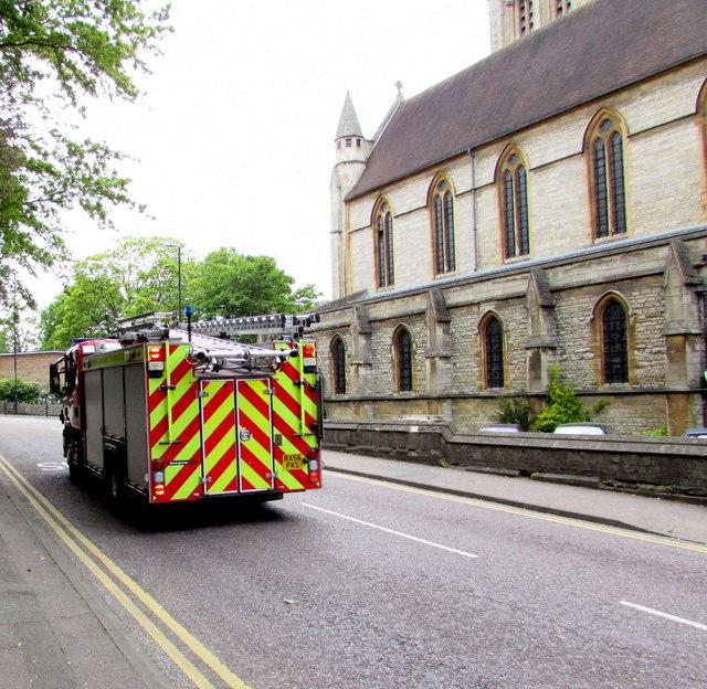 Fire engine, St Stephen's Way, Bournemouth