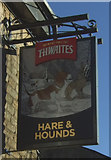 SD7328 : Sign for the Hare & Hounds public house, Oswaldtwistle by JThomas