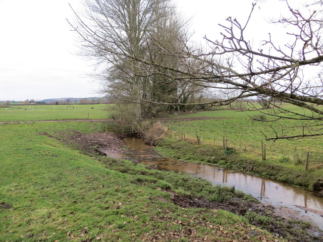 Stream flowing between Stoke Court and St Peter's Church