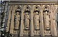 TQ7468 : Rochester Cathedral: The Pulpitum Screen, memorial to Dean Scott (Dean 1870-1887) by Michael Garlick