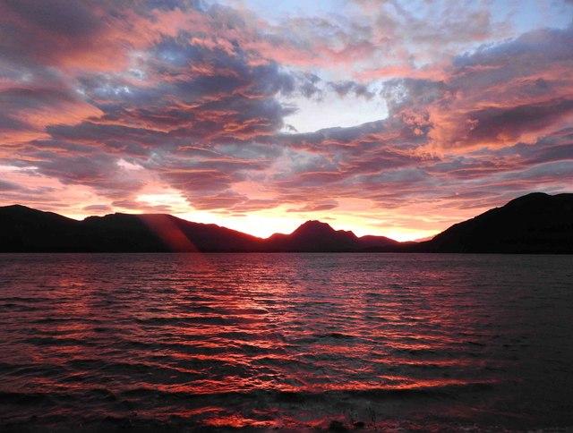 Sunrise over Loch Maree