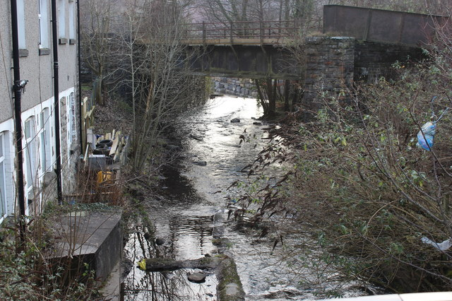 Railway bridge over Ebbw Fach River, Aberbeeg