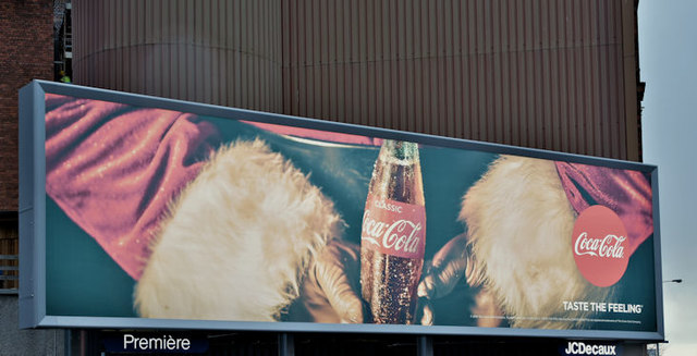 Coca-Cola Christmas advertisement, Belfast (December 2016)