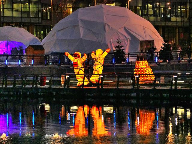 Illuminated Spacemen, MediaCityUK Waterfront