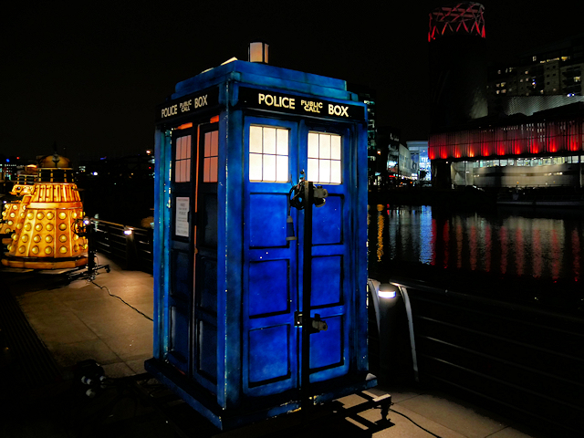 Dr Who's Tardis at MediaCityUK