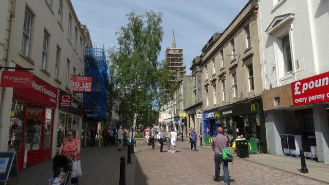 Falkirk - View W along High St