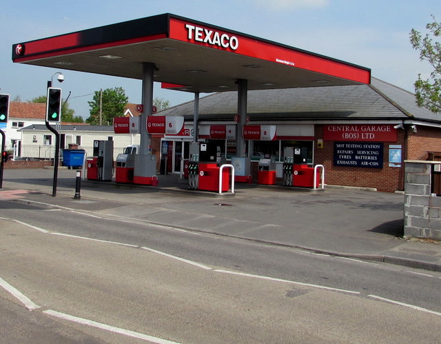 Texaco filling station, Berrow Road, Burnham-on-Sea