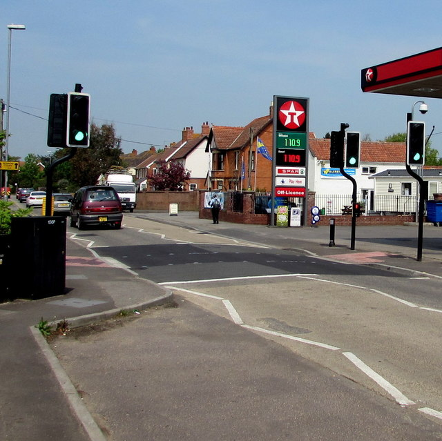 Pelican crossing, Berrow Road, Burnham-on-Sea
