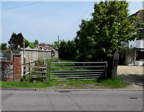 ST3050 : Berrow Road stile to a public footpath, Burnham-on-Sea by Jaggery