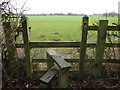 TQ2718 : Houses on Langton Lane seen from stile on footpath by Shazz
