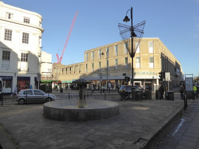 Fountain and Primark store, Cheltenham