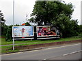 ST3086 : Ice Age and Coca Cola adverts facing Docks Way, Newport by Jaggery