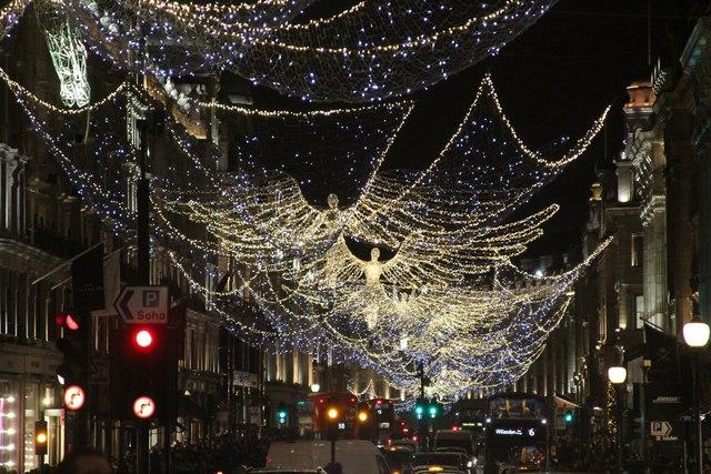 regent street angel christmas lights 2016