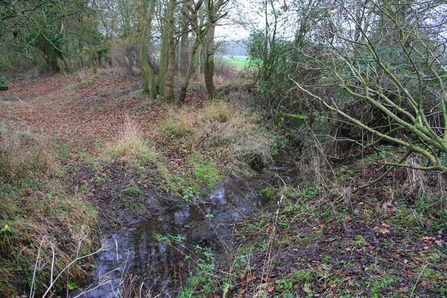 Culverted stream cuts across bed of former Wilts & Berks Canal