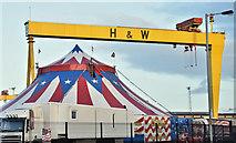 J3574 : Circus Vegas, Belfast (December 2016) by Albert Bridge