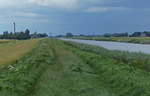 Middle Level Main Drain north of Morton's Bridge